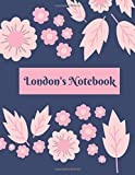 London's Notebook: | Girls Names Journal, Dotted| Dot Grid Journal, 100 pages, 8.5x11 large print, Soft Cover, Glossy Finish.