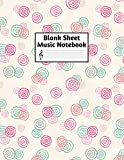Blank Sheet Music Notebook: Easy Blank Staff Manuscript Book Large 8.5 X 11 Inches Musician Paper Wide 12 Staves Per Page for Piano, Flute, Violin, ... other Musical Instruments - Code : A4 7446
