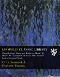 Classification. Music and Books on Music: M: Music; ML: Literature of Music; MT: Musical Instruction and Study