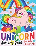 Unicorn Activity Book for Kids ages 4-8: A children's coloring book and activity pages for 4-8 year old kids. For home or travel, it contains ... ... [Idioma Inglés] (Silly Bear Coloring Books)
