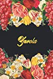 Zarola Notebook: Lined Notebook / Journal with Personalized Name, & Monogram initial Z on the Back Cover, Floral cover, Gift for Girls & Women
