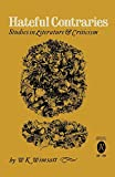 Hateful Contraries: Studies in Literature and Criticism (English Edition)