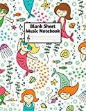 Blank Sheet Music Notebook: Easy Blank Staff Manuscript Book Large 8.5 X 11 Inches Musician Paper Wide 12 Staves Per Page for Piano, Flute, Violin, ... other Musical Instruments - Code : A4 2430