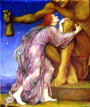 1909 pintura de Evelyn De Morgan El culto de Mammon