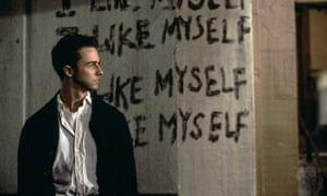 Edward Norton en la película de 1999 de David Fincher en Fight Club.