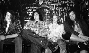Screaming Trees, incluido Lanegan, a la izquierda, en Londres, 1989.