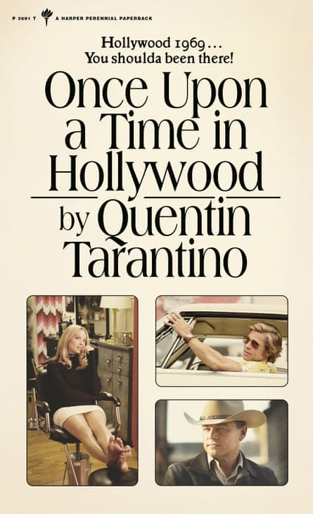 La portada de la novela de Tarantino Once Upon a Time in Hollywood.